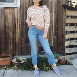 Vintage slouchy fit silk cotton sweater